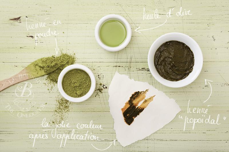 préparation henné coloration capillaire