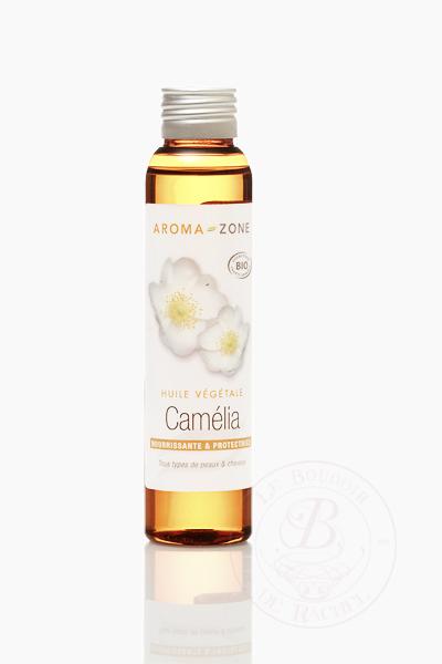 huile de camélia visage et cheveux
