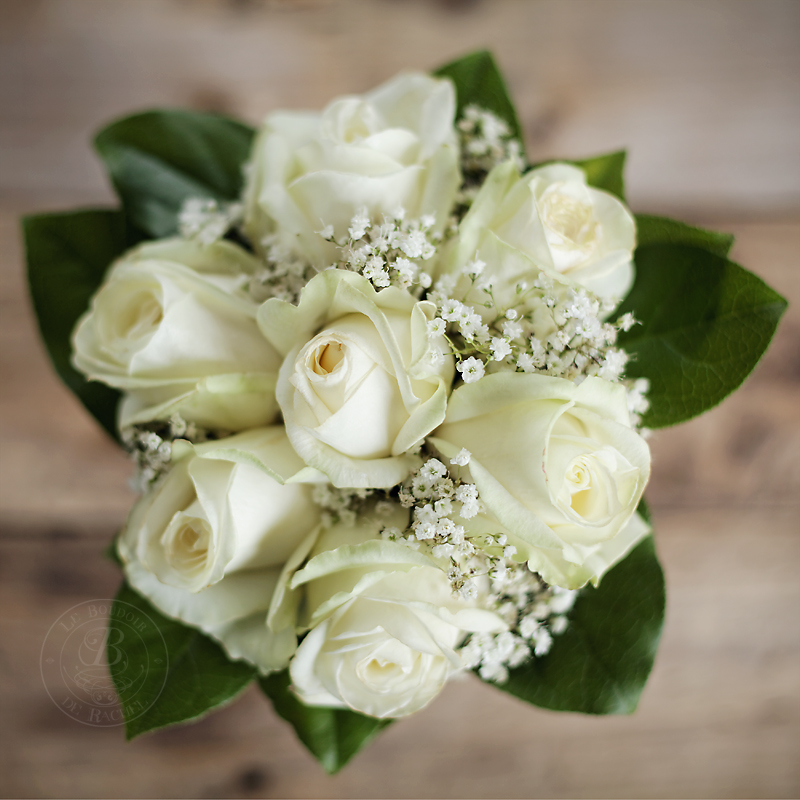 bouquet mariage roses blanches